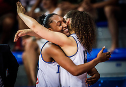 Olbis Futo Andre of Italy and Lorela Cubaj of Italy celebrate during basketball match between Women National teams of Italy and Slovenia in Group phase of Women's Eurobasket 2019, on June 30, 2019 in Sports Center Cair, Nis, Serbia. Photo by Vid Ponikvar / Sportida