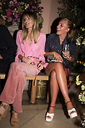 SARAH HISCOX; ISABELLA BOREMAN, spotted at Bloom & Wild's exclusive event at 5 Hertford Street last night. 5 September 2017. The event was announcing the new partnership between the UK's most loved florist, Bloom & Wild and British floral design icon Nikki Tibbles Wild at Heart. Cocooned in swaths of vibrant Autumn blooms, guests enjoyed floral-inspired cocktails from Sipsmith and bubbles from Chandon, with canapés put on by 5 Hertford Street. Three limited edition bouquets from the partnership can be bought through Bloom & Wild's website from the 1st September.  bloomandwild.com/WAH