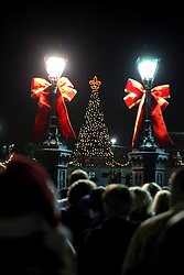 18 December 2011.New Orleans, Louisiana, USA.  <br /> Christmas decorations in Jackson Square. <br /> Photos; Charlie Varley