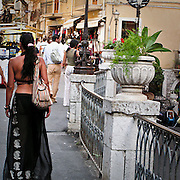 Turisti a Taormina..Tourists in Taormina