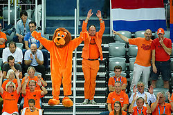 Fans of Netherlands during basketball match between Slovenia vs Netherlands at Day 4 in Group C of FIBA Europe Eurobasket 2015, on September 8, 2015, in Arena Zagreb, Croatia. Photo by Matic Klansek Velej / Sportida