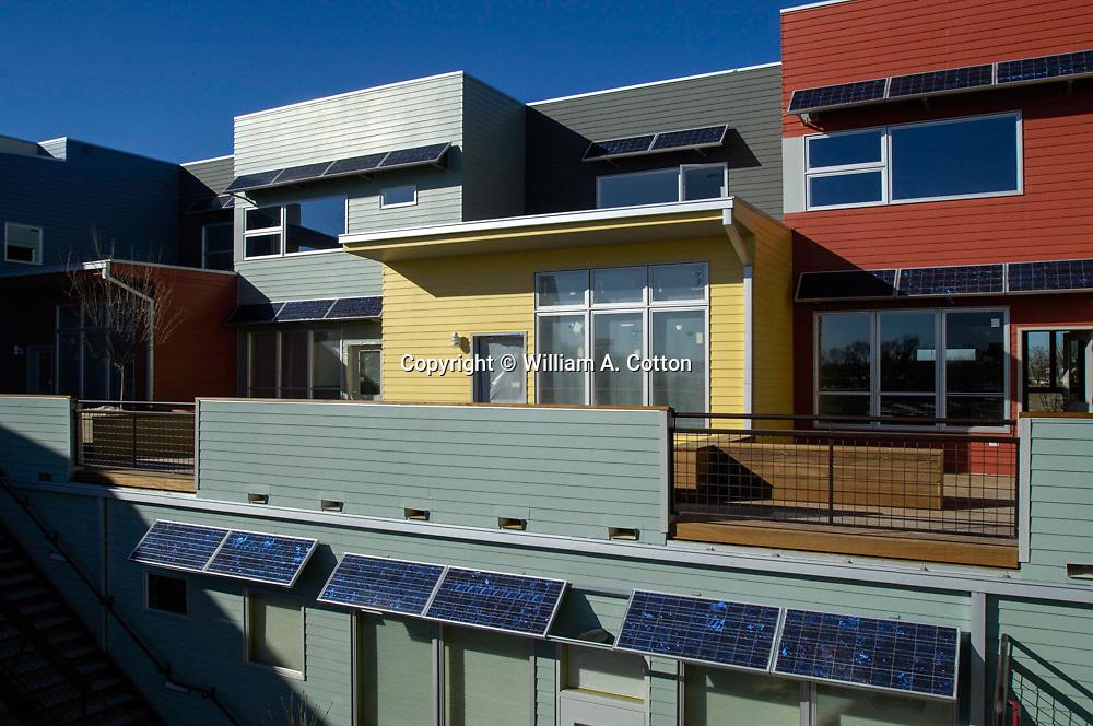 Sun Electric Systems installation at Solar Village, Longmont, Colorado