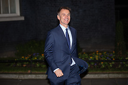 © Licensed to London News Pictures. 07/01/2019. London, UK. Foreign and Commonwealth Secretary Jeremy Hunt leaving 10 Downing Street after attending a drinks reception in Number 10. British Prime Minister Theresa May is currently trying to persuade MPs to back her Brexit withdrawal deal. MPs will be debating the issue this week, with the postponed vote taking place on Tuesday 15th January. Photo credit : Tom Nicholson/LNP
