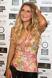 © Licensed to London News Pictures. 16/09/2016. GEMMA OATEN attends the Kolchagov Barba SS 17 fashion show during London Fashion Week.  London, UK. Photo credit: Ray Tang/LNP