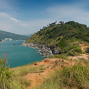 View of Phuket beaches from Promthep Cape, Thailand