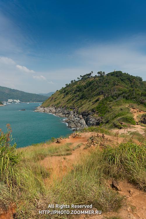 View of Phuket beaches from Promthep Cape, Thailand