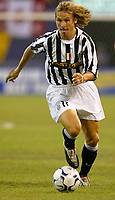 Photo Aidan Ellis.<br />Manchester United v juventus (Champions World Match at New York Giants Stadium East Rutherford).31/07/03.<br />Pavel Nedved in action for Juve