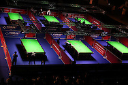 a general view at the Coral Welsh Open Snooker 2017, day 2 at the Motorpoint Arena in Cardiff, South Wales on Tuesday 14th February 2017.<br /> pic by Andrew Orchard, Andrew Orchard sports photography.