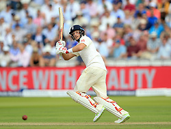 England's Joe Root during day one of the First Investec Test match at Lord's, London. PRESS ASSOCIATION Photo. Picture date: Thursday July 6, 2017. See PA story CRICKET England. Photo credit should read: Nigel French/PA Wire. RESTRICTIONS: Editorial use only. No commercial use without prior written consent of the ECB. Still image use only. No moving images to emulate broadcast. No removing or obscuring of sponsor logos.