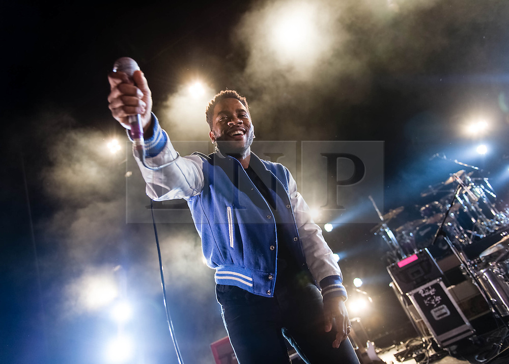 © Licensed to London News Pictures. 01/03/2014. London, UK.   Thunderbird Gerard performing live at Hammersmith Apollo, supporting headliner Rizzle Kicks. hunderbird Gerard is hip hop producer and multi instrumentalist, born in New York and based in Berlin.    Photo credit : Richard Isaac/LNP