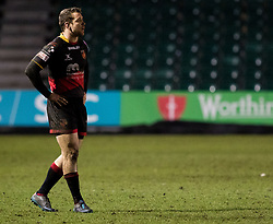 Dragons' Adam Warren<br /> <br /> Photographer Simon King/Replay Images<br /> <br /> Guinness PRO14 Round 14 - Dragons v Glasgow Warriors - Friday 9th February 2018 - Rodney Parade - Newport<br /> <br /> World Copyright © Replay Images . All rights reserved. info@replayimages.co.uk - http://replayimages.co.uk