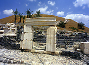 "The Roman ruines at Bet Shean, Israel Bet She'an was the site of an Egyptian administrative center during the XVIII and XIX dynasties. In Hellenistic times it was a Scythian city from circa 625 to 300 B.C., and the biblical city Beth-shean. In 64 BC it was taken by the Romans, rebuilt, and made the center of the Decapolis, the ""Ten Cities"" of Samaria that were centers of Greco-Roman culture. The city contains the best preserved Roman theater of ancient Samaria."