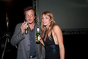 Italian/Hollywood director Gabriele Muccino; ANGELICA RUSSO; , The launch of the Peroni Nastro Azzurro Accademia del Film Wrap Party Tour. Brick Lane. 25 August 2010. -DO NOT ARCHIVE-© Copyright Photograph by Dafydd Jones. 248 Clapham Rd. London SW9 0PZ. Tel 0207 820 0771. www.dafjones.com.