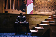 Security watches the stage during the final day of the Conservative Political Action Conference (CPAC) at the Gaylord National Resort & Convention Center in National Harbor, Md.