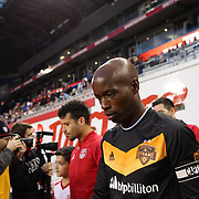 DaMarcus Beasley, Houston, leads his team out during the New York Red Bulls Vs Houston Dynamo, Major League Soccer regular season match at Red Bull Arena, Harrison, New Jersey. USA. 19th March 2016. Photo Tim Clayton