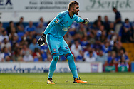 Ipswich Town goalkeeper Bartosz Bialkowski (33) pointing, directing, signalling during the EFL Sky Bet Championship match between Ipswich Town and Fulham at Portman Road, Ipswich, England on 26 August 2017. Photo by Phil Chaplin.