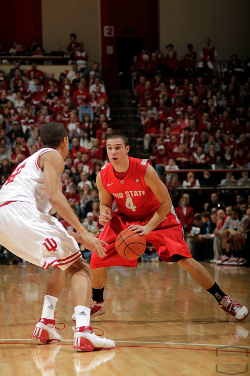 31 December 2010: Ohio State Buckeyes guard Aaron Craft (4) as the Indiana Hoosiers played the Ohio State Buckeyes in a college basketball game in Bloomington, Ind.