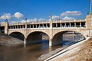 7th Street Bridge over the Los Angeles River, Downtown Los Angeles, California, USA