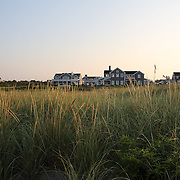 Beachside properties on the coastline at Cisco Beach, Nantucket, Nantucket Island, Massachusetts, USA. Photo Tim Clayton