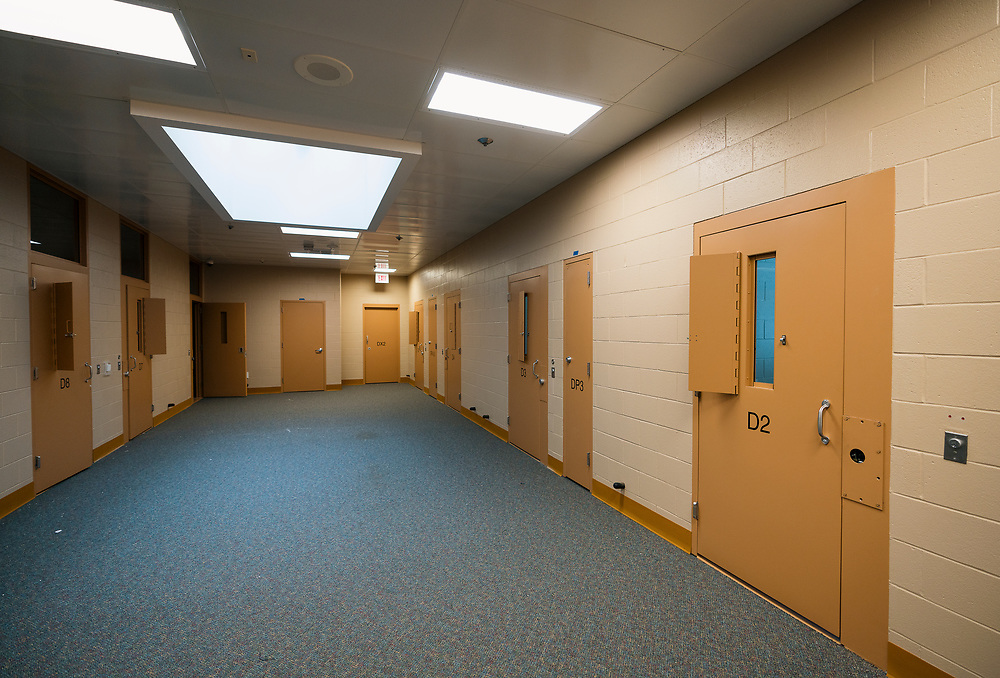 A view of the proposed space for the Senior Resource Center inside the Juvenile Detention Center at the City County Building in Madison, Wisconsin, Wednesday, June 12, 2019.