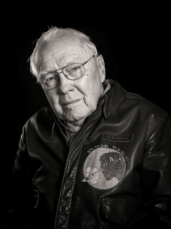 """D.R. """"Duke"""" Brown was a B-17 flight engineer and top turret gunner, completing 33 missions with the 94th Bomb Group.  His crew often launched as an """"airborne spare"""", taking the place of other aircraft that dropped out of the formation.   <br /> <br /> Created by aviation photographer John Slemp of Aerographs Aviation Photography. Clients include Goodyear Aviation Tires, Phillips 66 Aviation Fuels, Smithsonian Air & Space magazine, and The Lindbergh Foundation.  Specialising in high end commercial aviation photography and the supply of aviation stock photography for advertising, corporate, and editorial use."""