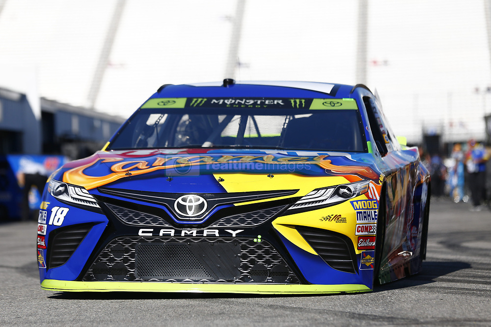 September 23, 2017 - Loudon, New Hampshire, United States of America - September 23, 2017 - Loudon, New Hampshire, USA: Kyle Busch (18) takes to the track to practice for the ISM Connect 300 at New Hampshire Motor Speedway in Loudon, New Hampshire. (Credit Image: © Justin R. Noe Asp Inc/ASP via ZUMA Wire)