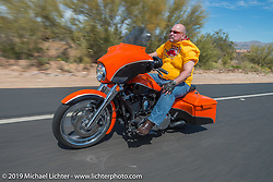 The Hamsters annual Dry Heat Run on Thursday of Arizona Bike Week 2014. USA. April 4, 2014.  Photography ©2014 Michael Lichter.