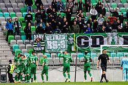 NK Olimpija celebrating during football match between NK Olimpija Ljubljana and NK Rudar Velenje in 25rd Round of Prva liga Telekom Slovenije 2018/19, on April 7th, 2019 in Stadium Stozice, Slovenia Photo by Matic Ritonja / Sportida