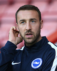 Brighton and Hove Albion's Glenn Murray before the match