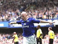 Photo: Andi Thompson.<br />Everton v Manchester City. The Barclays Premiership. 30/09/2006.<br />Andrew Johnson Celebrates his goal for Everton