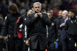 September 12, 2017 - Manchester, England - Manchester, Fussball UEFA Champions League, Manchester United - FC Basel. 12.9. 2017. Uniteds Trainer Jose Mourinho. (Credit Image: © Daniel Teuscher/EQ Images via ZUMA Press)