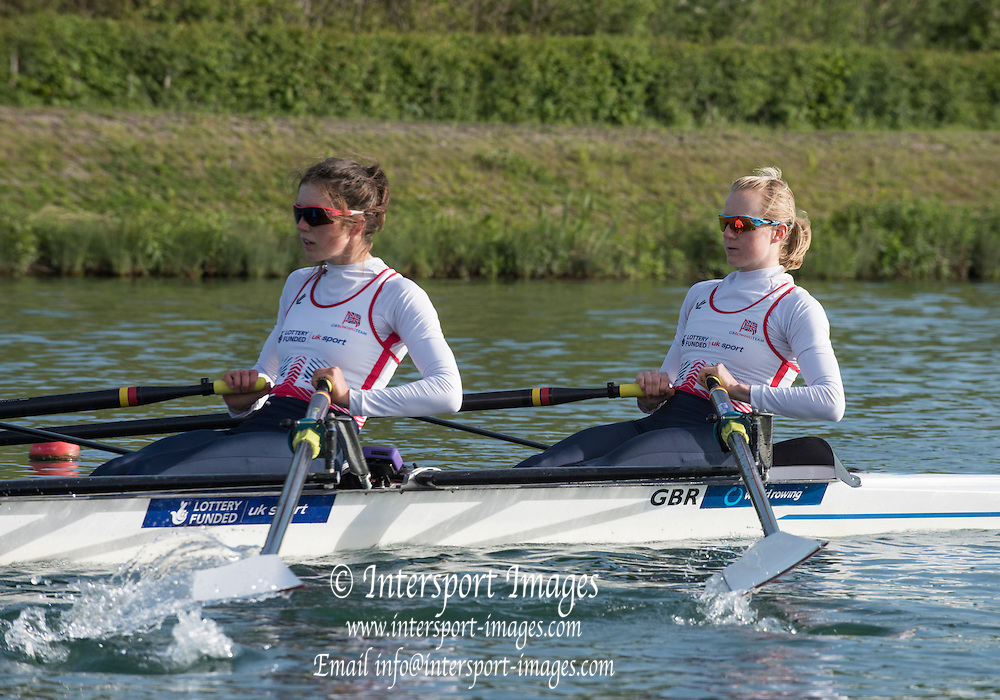Caversham. Reading. GBR LW2X, Bow Ruth WALCZAKG and Emily CRAIG, GBRowing  European Team Announcement, GB Training Base Reading. 13.05.2015. Wednesday. [Mandatory Credit: Peter Spurrier/Intersport-images.com