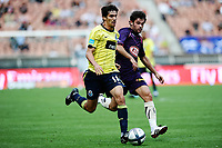 FOOTBALL - TOUNOI DE PARIS 2010 - FC PORTO v GIRONDINS BORDEAUX - 1/08/2010 - PHOTO GUY JEFFROY / DPPI - HENRIQUE SERENO (POR) / PIERRE DUCASSE (BOR)