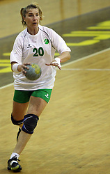 Vesna Pus of Olimpija at  handball game between women team RK Olimpija vs ZRK Brezice at 1st round of National Championship, on September 13, 2008, in Arena Tivoli, Ljubljana, Slovenija. Olimpija won 41:17. (Photo by Vid Ponikvar / Sportal Images)