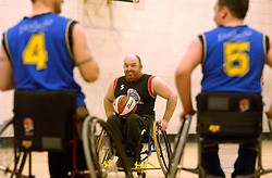 Wheelchair basketball training, Sunderland. UK