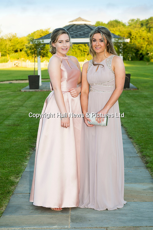 27 June 2019: Somercotes Academy Year 11 prom at the Brackenborough Hotel near Louth.<br /> (l-r) Cerys Edwards and Isobel Meik (corr).<br /> Picture: Sean Spencer/Hull News & Pictures Ltd<br /> 01482 210267/07976 433960<br /> www.hullnews.co.uk         sean@hullnews.co.uk