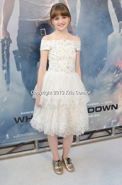 WASHINGTON DC JUNE 21: Joey King poses on the red carpet during the DC premiere of White House Down at AMC Georgetown in Washington DC on June 21, 2013.<br /> Photo by Kris Connor/Sony Pictures