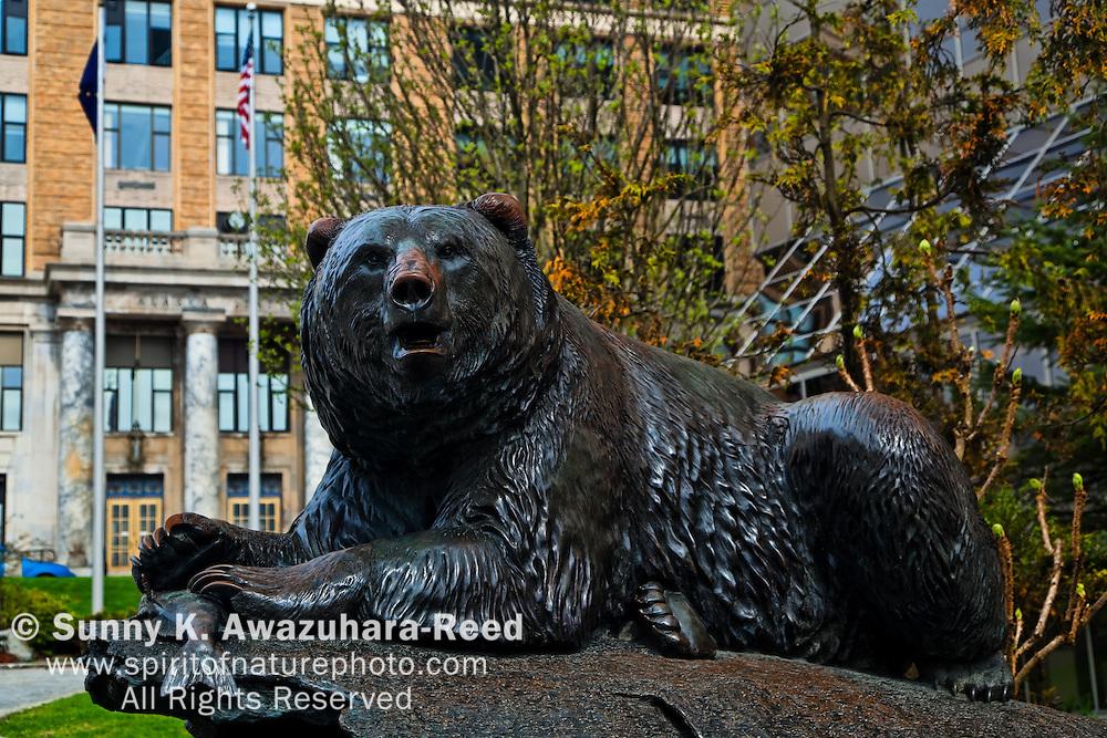 Grizzry Statue, Windfall Fisherman, Juneau, Alaska