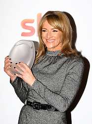Gabby Logan received the NEP UK presenter award at the Women in Film & TV Awards at the Hilton hotel in central London.