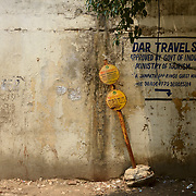 Hand painted ads in the walls of Delhi