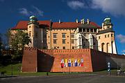 Zamek krolewski na Wawelu od ulicy Grodzkiej<br /> Wawel Castle as seen from Grodzka Street, Cracow, Poland