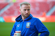 Sheffield Wednesday midfielder Barry Bannan (41) with a pre match coffee during the The FA Cup match between Middlesbrough and Sheffield Wednesday at the Riverside Stadium, Middlesbrough, England on 8 January 2017. Photo by Simon Davies.