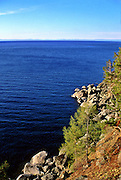 Pribaikalski National Park, Olkhon Island, Lake Baikal. Olkhon Islands is the largest island in the lake. Lake Baikal is the oldest (25 million years), deepest (5700 feet) and largest lake in the world by volume(it holds 20% of the earth's liquid fresh water). Threatened by pollution and most recently by an oil pipeline, Baikal has become a rallying point for Russian and international conservationists. Baikal was declared a World Heritage Site in 1996. Boyd Norton, the photographer here, worked with Russian and U.S. environmentalists to get Baikal designated a World Heritage Site.