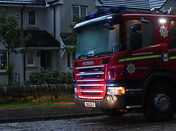 Lightning strike in Prestonpans 10 August 2019; Emergency services attend a Prestonpans house that was struck by lightning during a storm. Lightning struck during a house party and, thankfully, everyone escaped without any injury.<br /> <br /> (c) Chris McCluskie | Edinburgh Elite media