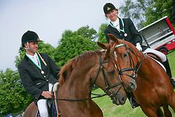 Kooremans Raf (NED) - Telstar<br /> Kooremans Diane (BEL) - Bibiche van de Ponyhoeve<br /> Nationaal Kampioenschap LRV  Minderhout 2009<br /> © Hippo Foto - Leanjo De Koster