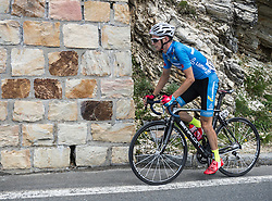 10.07.2015, Bruck a.d. Glstr, AUT, Österreich Radrundfahrt, 6. Etappe, Lienz auf das Kitzbühler Horn, im Bild Glocknerkönig Felix Großschartner (AUT, Team Felbermayr Simplon) // Felix Großschartner of Austria during the Tour of Austria, 6th Stage, from Lienz to the Kitzbühler Horn, Bruck a.d. Glstr, Austria on 2015/07/10. EXPA Pictures © 2015, PhotoCredit: EXPA/ Reinhard Eisenbauer