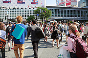 Shibuya's famed crossing, reputed to be the busiest pedestrain crossing in the world.