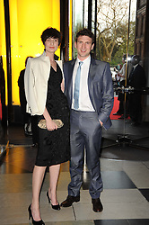 ERIN O'CONNOR and DAN STEWART at the opening of the Victoria & Albert Museum's latest exhibition 'Grace Kelly: Style Icon' opened by His Serene Highness Prince Albert of Monaco at the V&A on 15th April 2010.