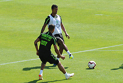 July 12, 2018 - Na - Nyon, 12/07/2018 - Sporting Clube de Portugal trained this morning during their pre-season training session in Switzerland at the Colovray Sports Center in Nyon. Nani  (Credit Image: © Atlantico Press via ZUMA Wire)