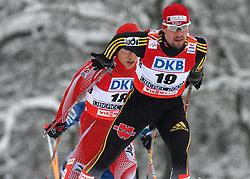 Sebastian Haseney of Germany at Nordic Combined Individual Gundersen NH, 10 km, at FIS Nordic World Ski Championships Liberec 2008, on February 22, 2009, in Vestec, Liberec, Czech Republic. (Photo by Vid Ponikvar / Sportida)